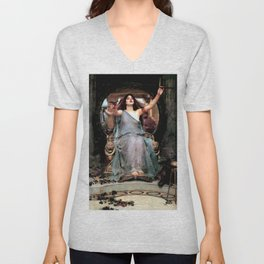 "John William Waterhouse ""Circe Offering the Cup to Odysseus"" Unisex V-Neck"