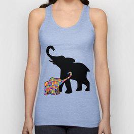 Elephant Autism Awareness Support Unisex Tank Top