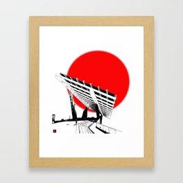 Barna Love Red Sun Framed Art Print
