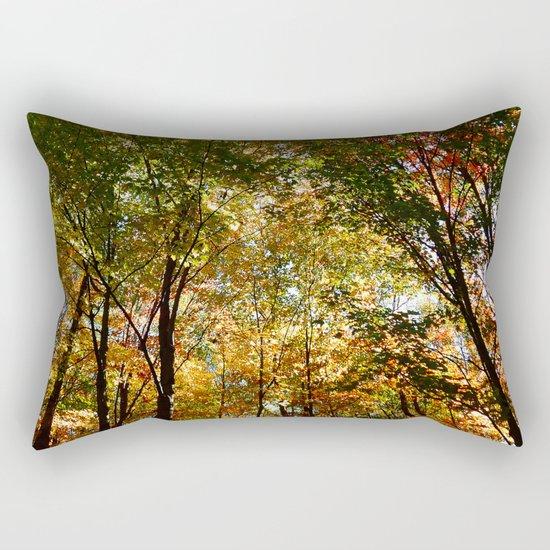 Through the Trees in October Rectangular Pillow