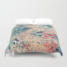 Abstract Pastel Paint Duvet Cover