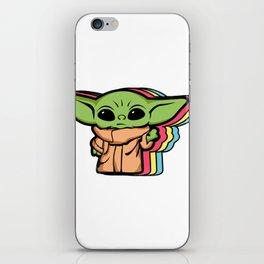 Baby Yoda Retro  iPhone Skin