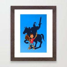 Knight in Shining Armor Framed Art Print