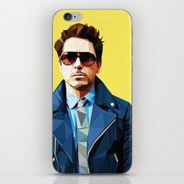 Robert Downey Jr - Low Poly Vector Art iPhone Skin