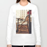 cafe Long Sleeve T-shirts featuring Paris Cafe by Nina's clicks