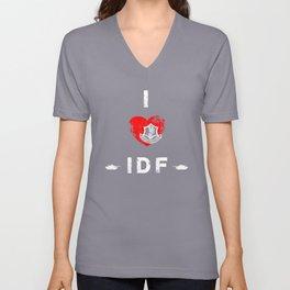 I Love IDF Unisex V-Neck