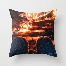 stay warm this winter Throw Pillow