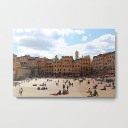 All About Italy. Piece 13 - Piazza del Campo in Siena Metal Print