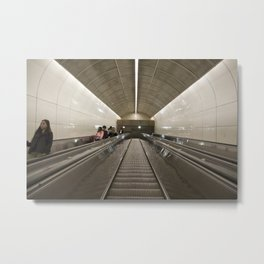 Escalator Granville Skytrain Metal Print