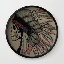 Native Skull Wall Clock