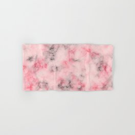 Pink and gray marble Hand & Bath Towel