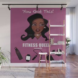 Fitness Queen Wall Mural