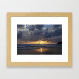 Tropical sunset in Phuket Framed Art Print