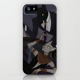 Anubis and Bastet iPhone Case