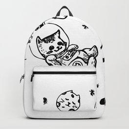 Kitty Cats Flying in Space - Kittens Backpack