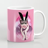 cherry blossom Mugs featuring Cherry Blossom by Wendy Stephens