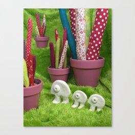 Promenade dans la forêt de cactus de Chicoumi-Land Canvas Print