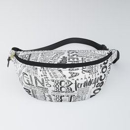 Cocktails Tag Cloud Fanny Pack