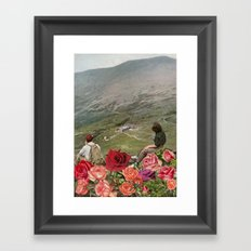 Life is a Bed of Roses Framed Art Print
