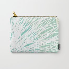 Doodle Flowers in Mint by Friztin Carry-All Pouch
