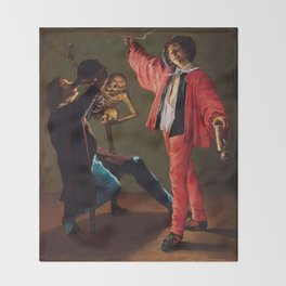 "Judith Leyster ""The Last Drop (The Gay Cavalier)"" Throw Blanket"
