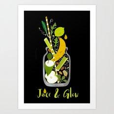 Juice & Glow Art Print