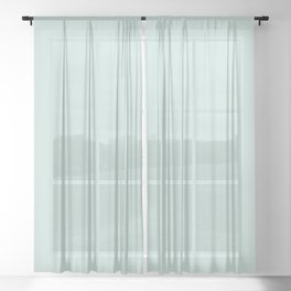 OPAL BLUE Pastel solid color Sheer Curtain