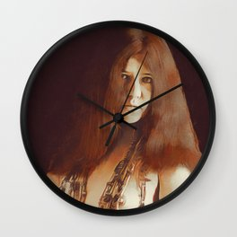 Janis, Music Legend Wall Clock