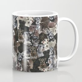 Schnauzer Collage Realistic Coffee Mug