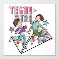 tegan and sara Canvas Prints featuring Tegan & Sara by nathan wellman