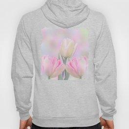 Painterly Pastel Tulips Hoody