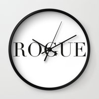 rogue Wall Clocks featuring ROGUE by Ryan Grice