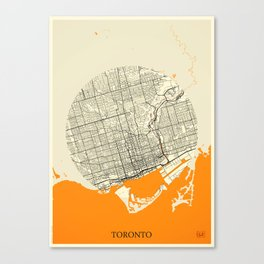Toronto Map Moon Canvas Print