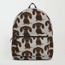 Chocolate Dachshund Backpack