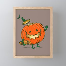 Skatedeck Pumpkin Framed Mini Art Print