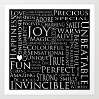 You Are All Of This And More!. Art Print