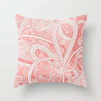 paisley Throw Pillows featuring Paisley by Laurie Mildenhall