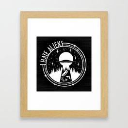I Love Aliens Framed Art Print