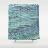 feather Shower Curtains featuring Feather by RUEI