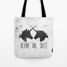 Ride or Die x Unicorns Tote Bag