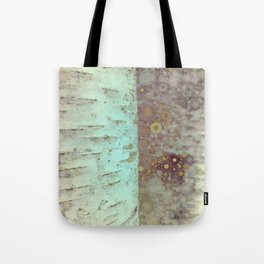 Autumn Birch Tree Abstract Tote Bag