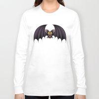 cartoon Long Sleeve T-shirts featuring Bat Cartoon by BluedarkArt
