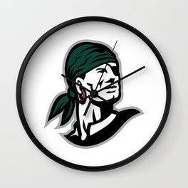 Pirate Headscarf Eye Patch Retro Wall Clock