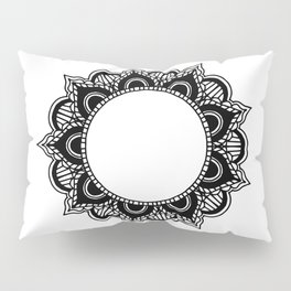 Mandala: black and white Pillow Sham
