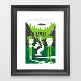 The Truth is Still Out There Framed Art Print