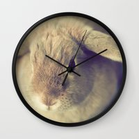 bunny Wall Clocks featuring Bunny by Jessica Torres Photography