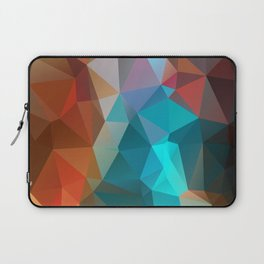 Abstract bright background of triangles polygon print illustration Laptop Sleeve