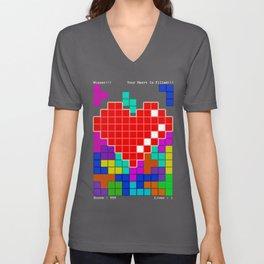 Heart Container Winner! Unisex V-Neck