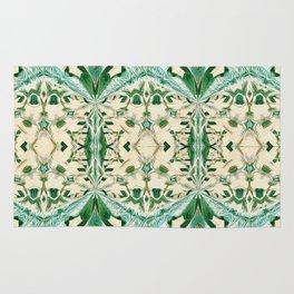 Boujee Boho Green Lace Geometric Rug
