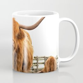 Highland Cow in a Fence Coffee Mug